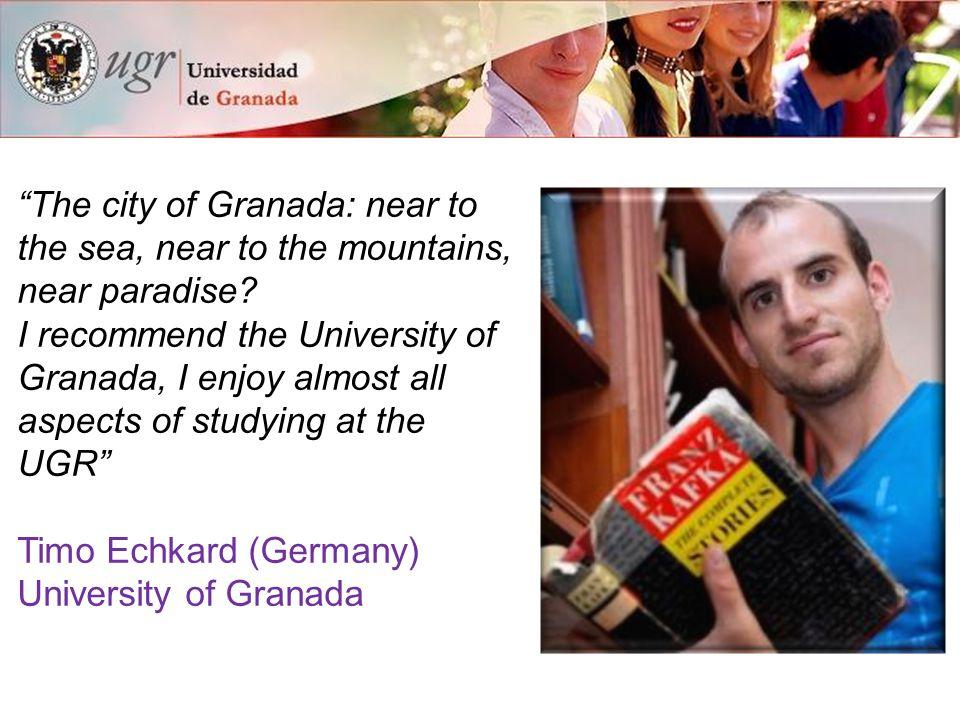 15 reasons to study at the University of Granada International Experience 2.