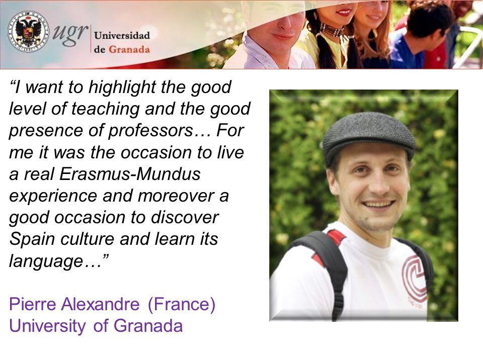 15 reasons to study at the University of Granada Solidarity and environment 15.