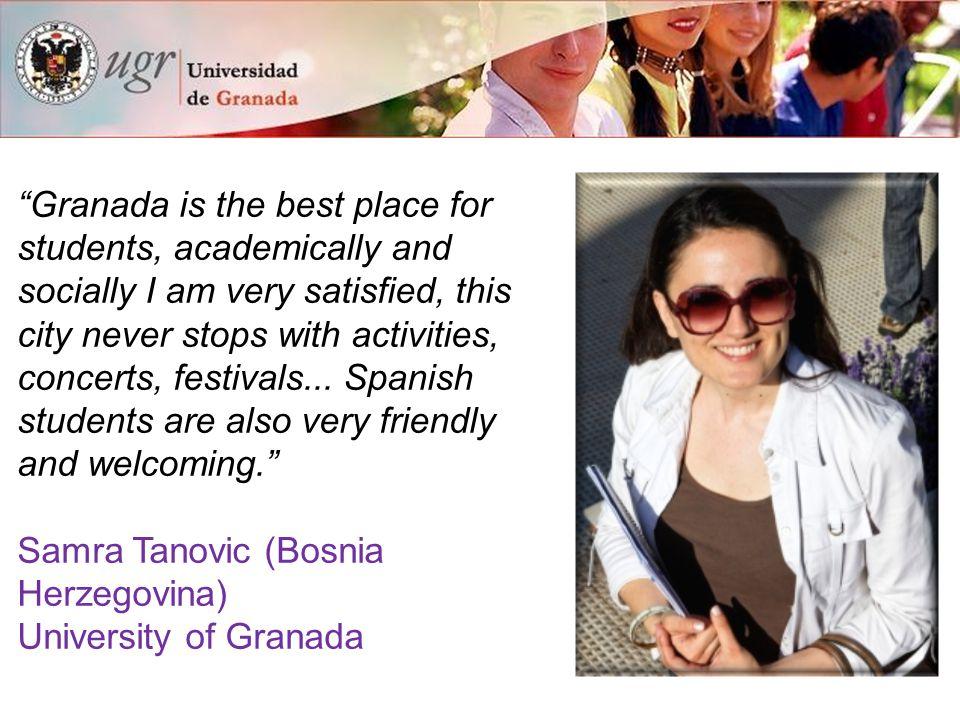 15 reasons to study at the University of Granada International Experience 4.