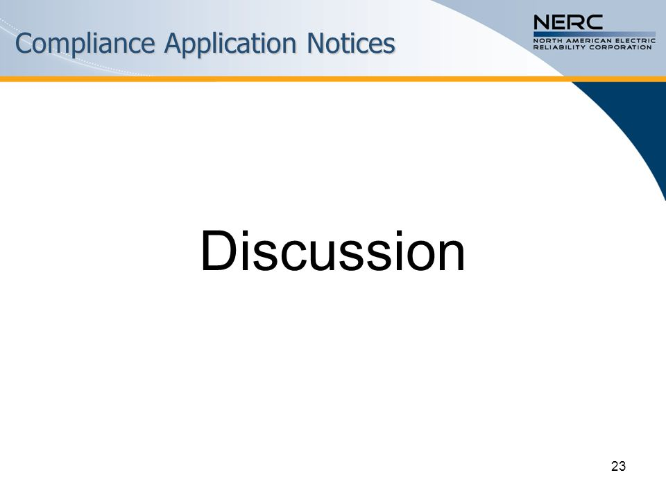 Compliance Application Notices Discussion 23