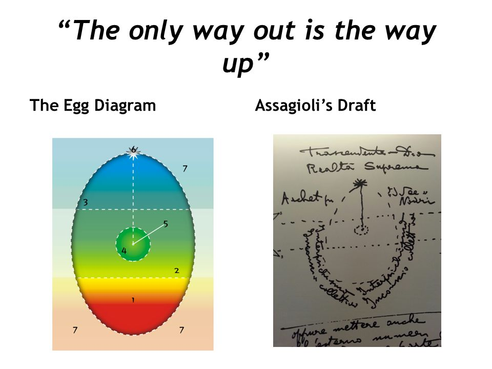 """The only way out is the way up"" The Egg DiagramAssagioli's Draft"