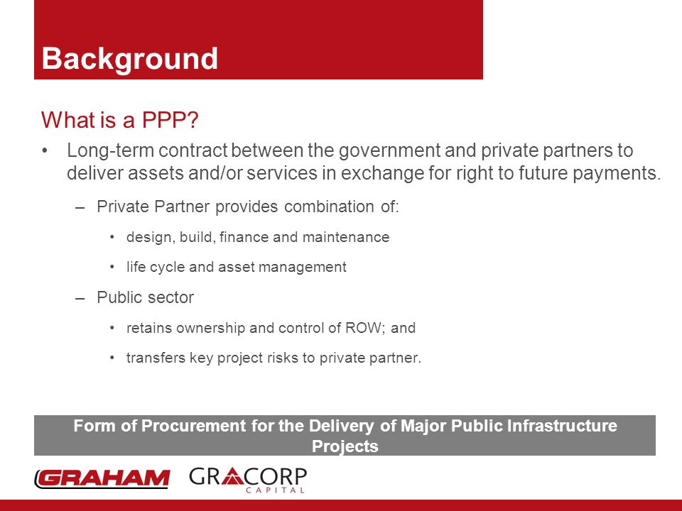 Background What is a PPP.