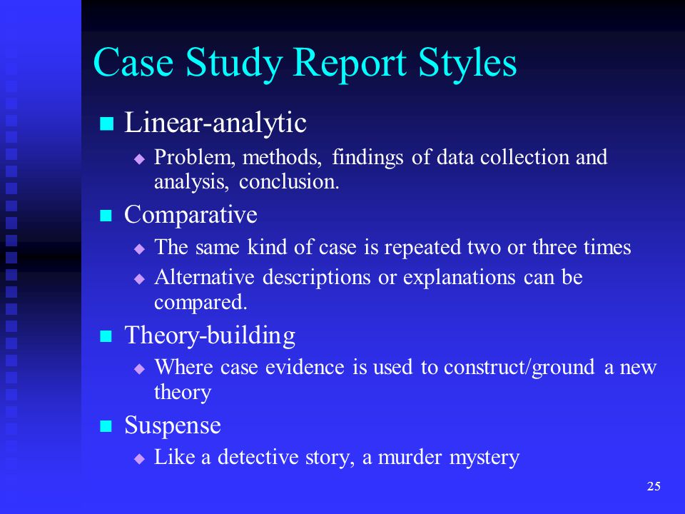 a case study the Case study research refers to an in-depth, detailed study of an individual or a small group of individuals such studies are typically qualitative in nature, resulting in a narrative description of behavior or experience.