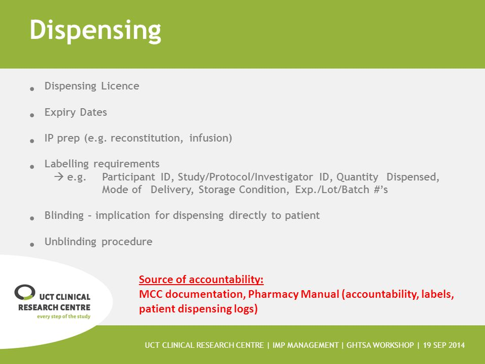 Dispensing Dispensing Licence Expiry Dates IP prep (e.g.