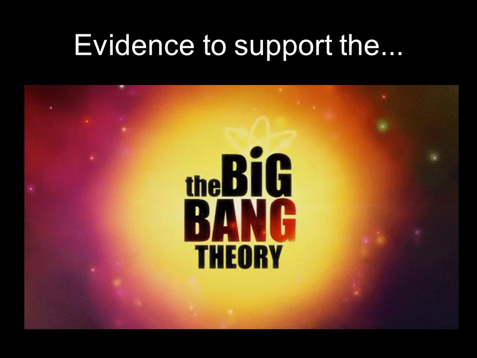 Evidence to support the...
