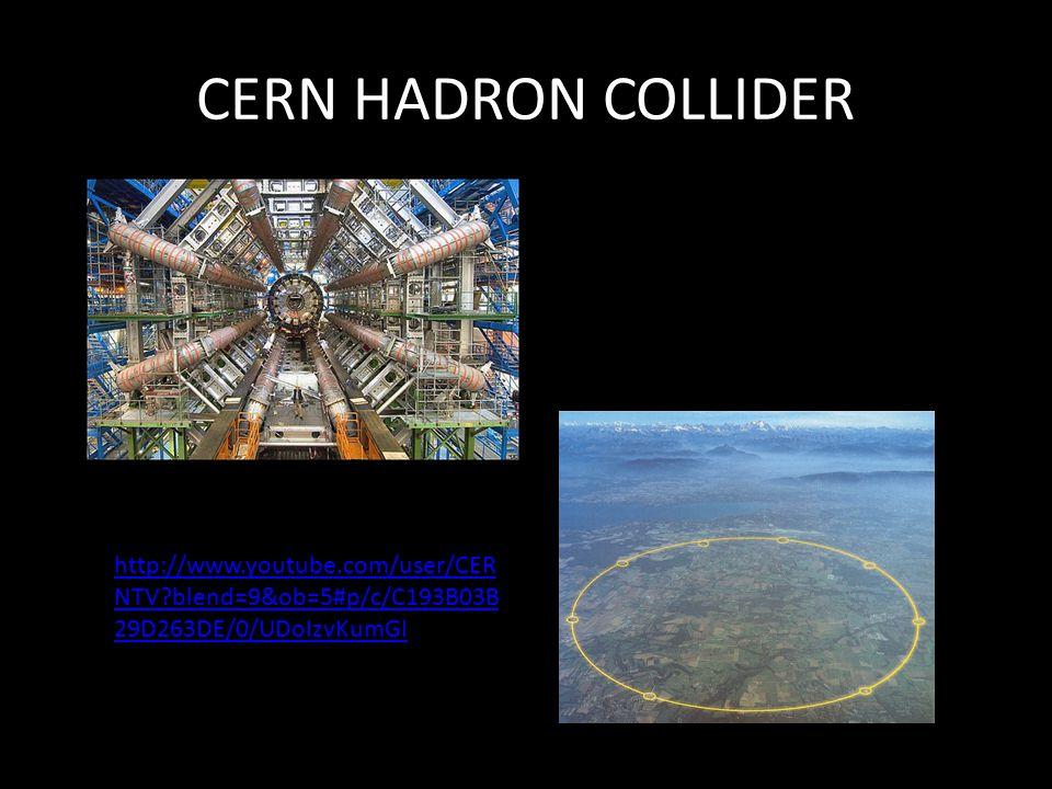 CERN HADRON COLLIDER http://www.youtube.com/user/CER NTV blend=9&ob=5#p/c/C193B03B 29D263DE/0/UDoIzvKumGI