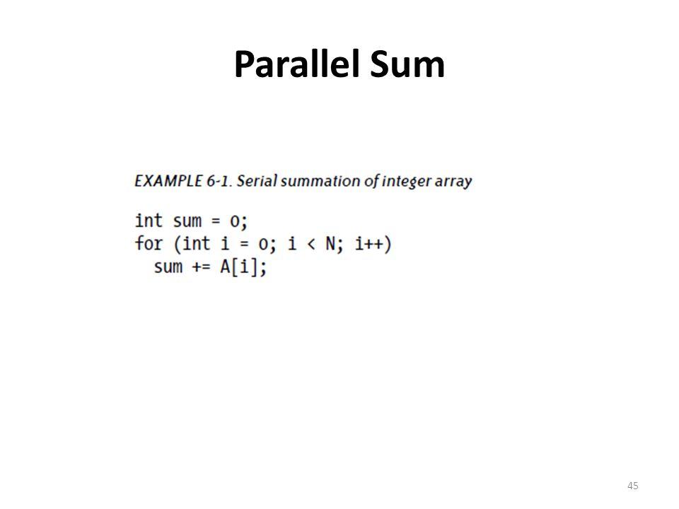 Parallel Sum 45