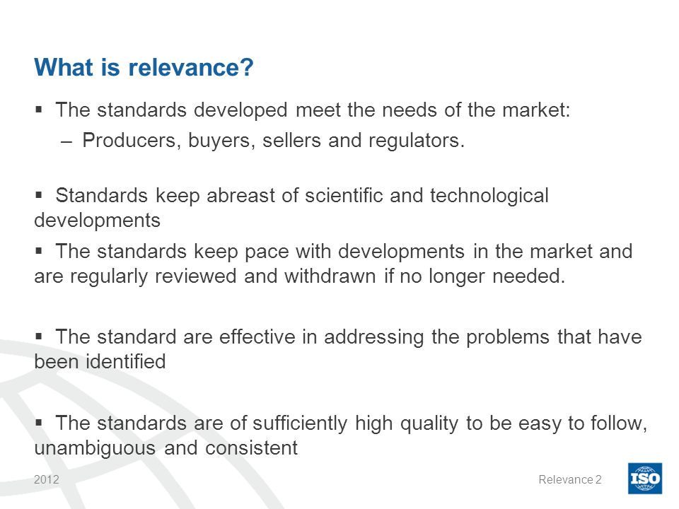 Why is relevance Important.