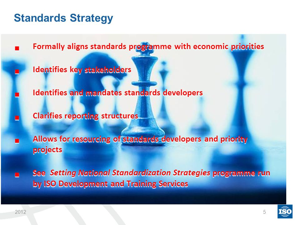 Advisory Boards Engage high level stakeholders –promote the relevance of the standards programme –keep on track by continually checking with this group.