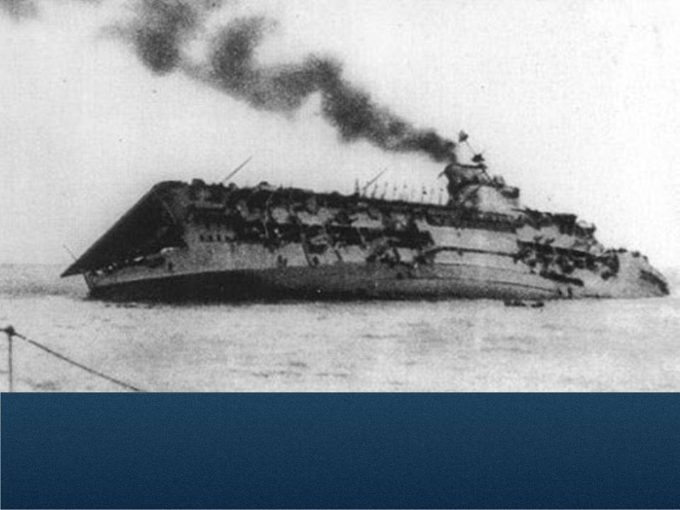 HMS Courageous sinking