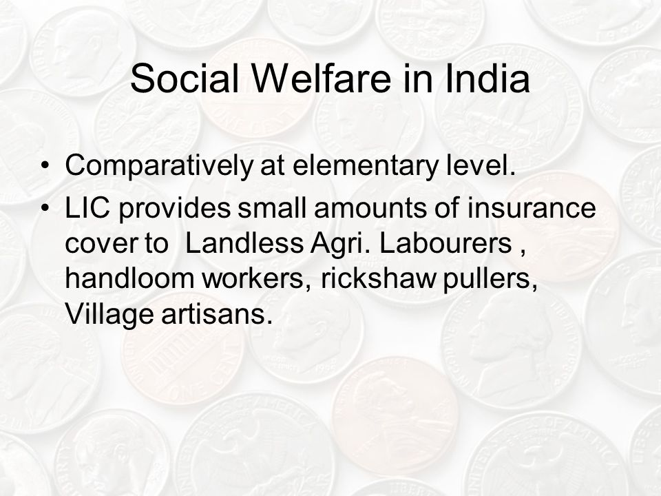 Social Welfare in India Comparatively at elementary level.