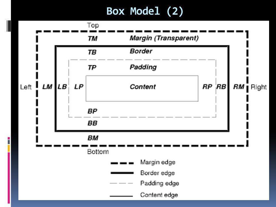 Box Model (2)