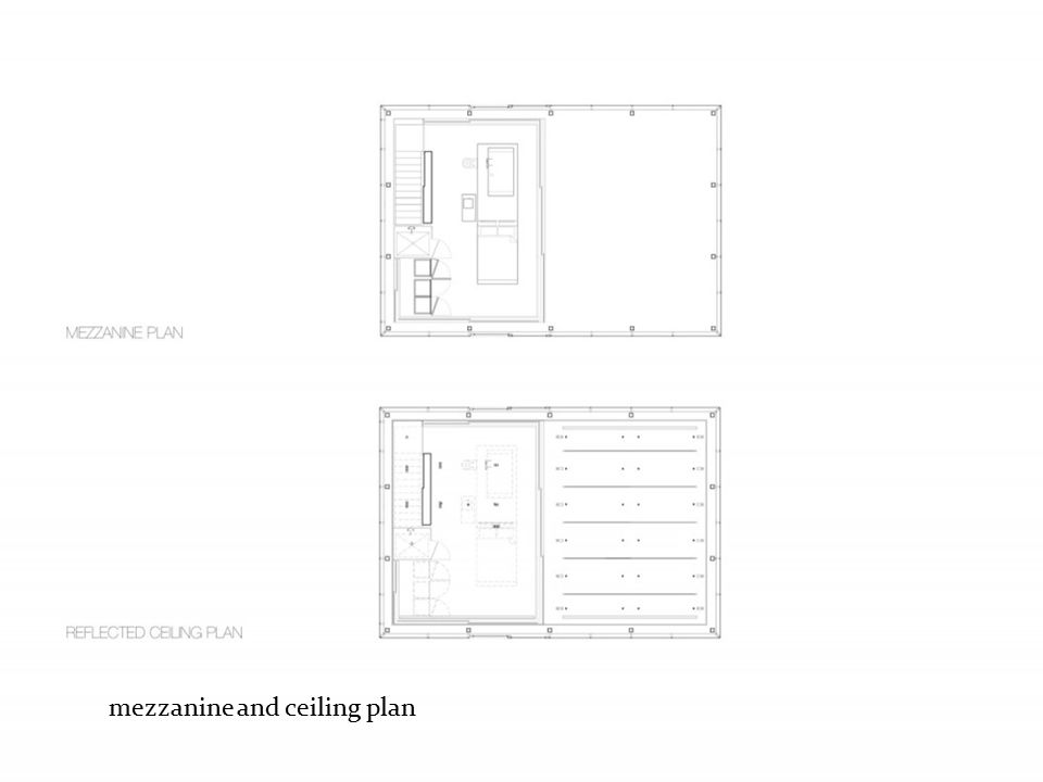 mezzanine and ceiling plan