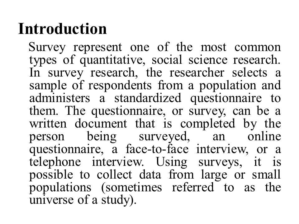 What is a Survey .