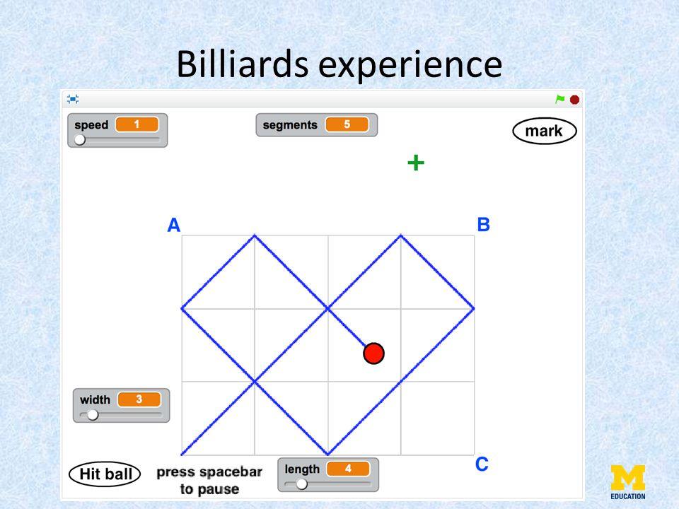 Billiards experience