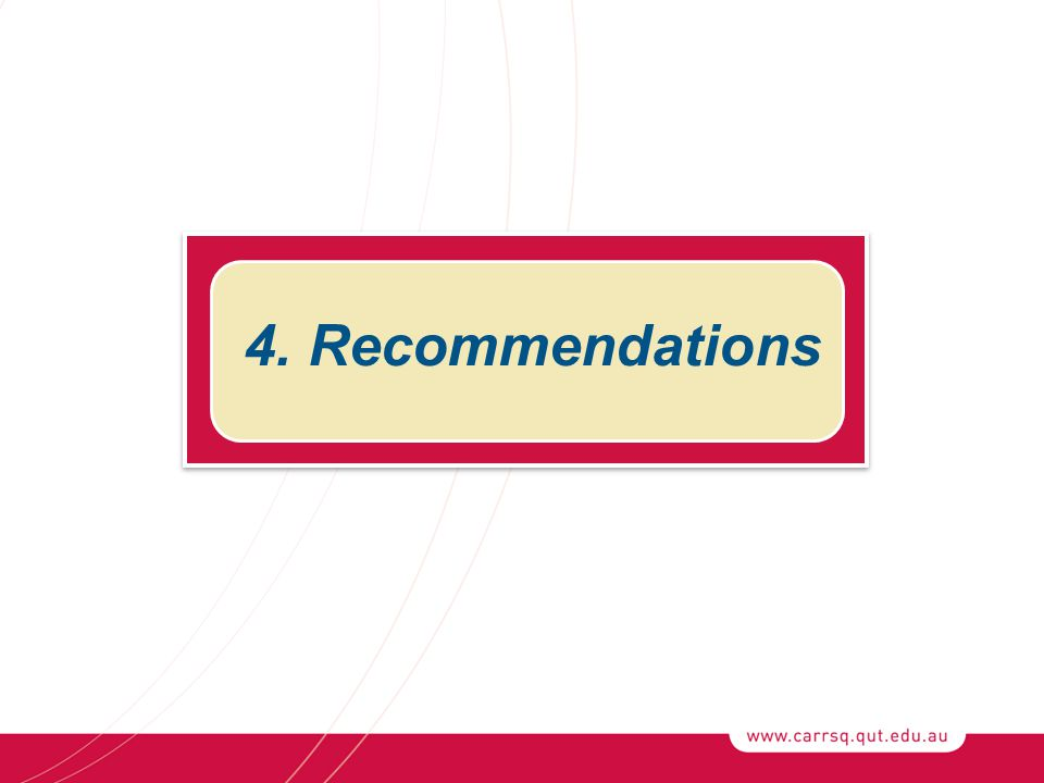 4. Recommendations