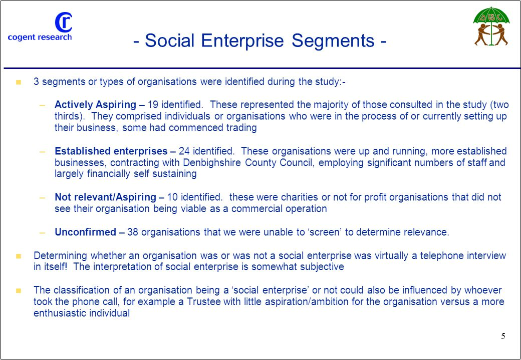 www.cogentresearch.co.uk 36 - What Do Social Firms Want From DCC.