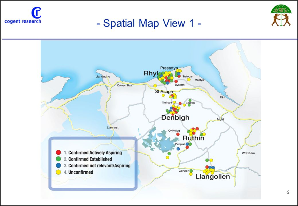 www.cogentresearch.co.uk 6 - Spatial Map View 1 -
