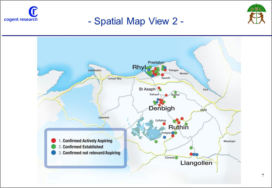 www.cogentresearch.co.uk 7 - Spatial Map View 2 -