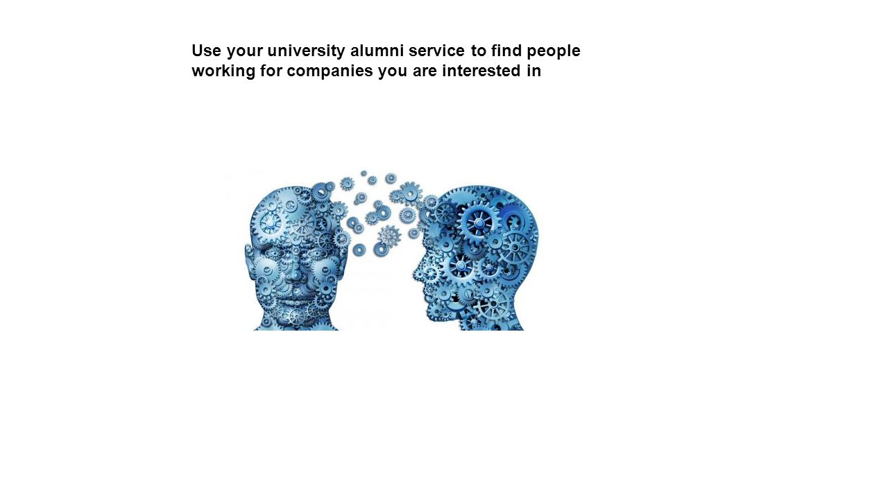 Use your university alumni service to find people working for companies you are interested in