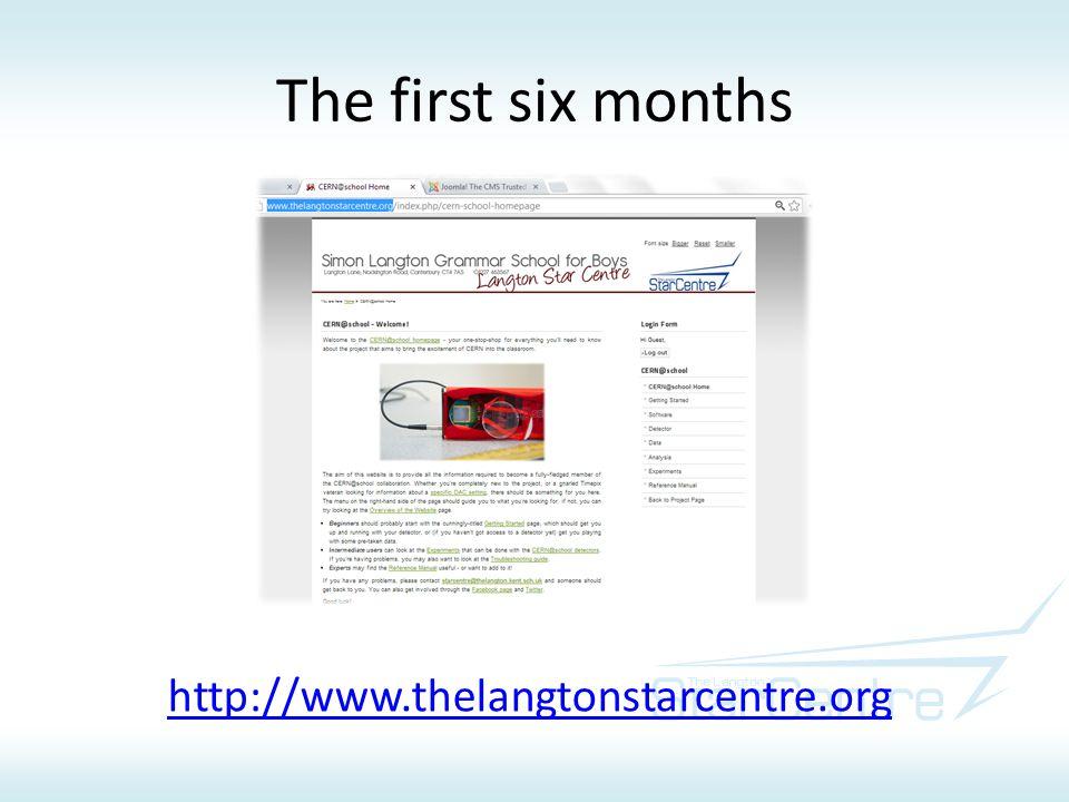 The first six months http://www.thelangtonstarcentre.org