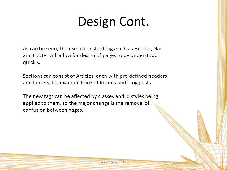 Design Cont.