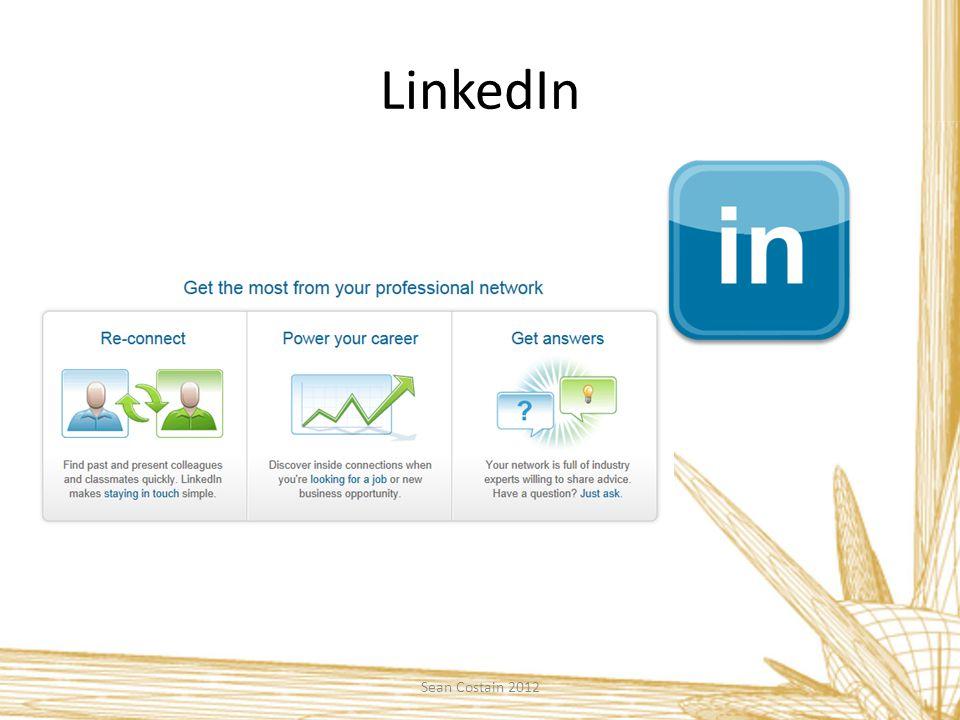 LinkedIn Sean Costain 2012