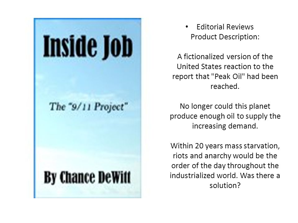 Editorial Reviews Product Description: A fictionalized version of the United States reaction to the report that Peak Oil had been reached.