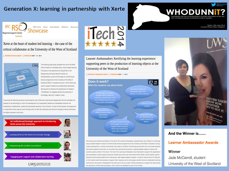 Generation X: learning in partnership with Xerte