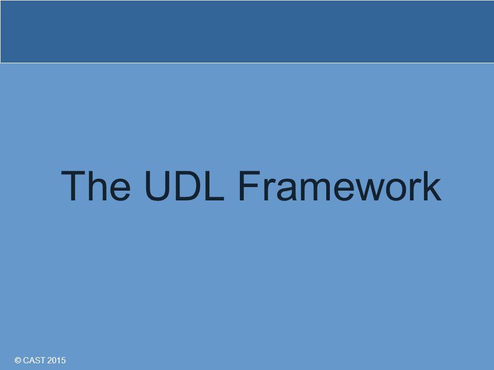 © CAST 2015 The UDL Framework
