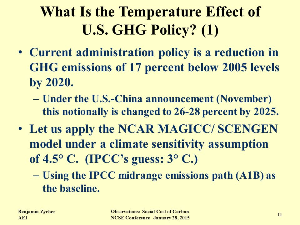 What Is the Temperature Effect of U.S. GHG Policy.