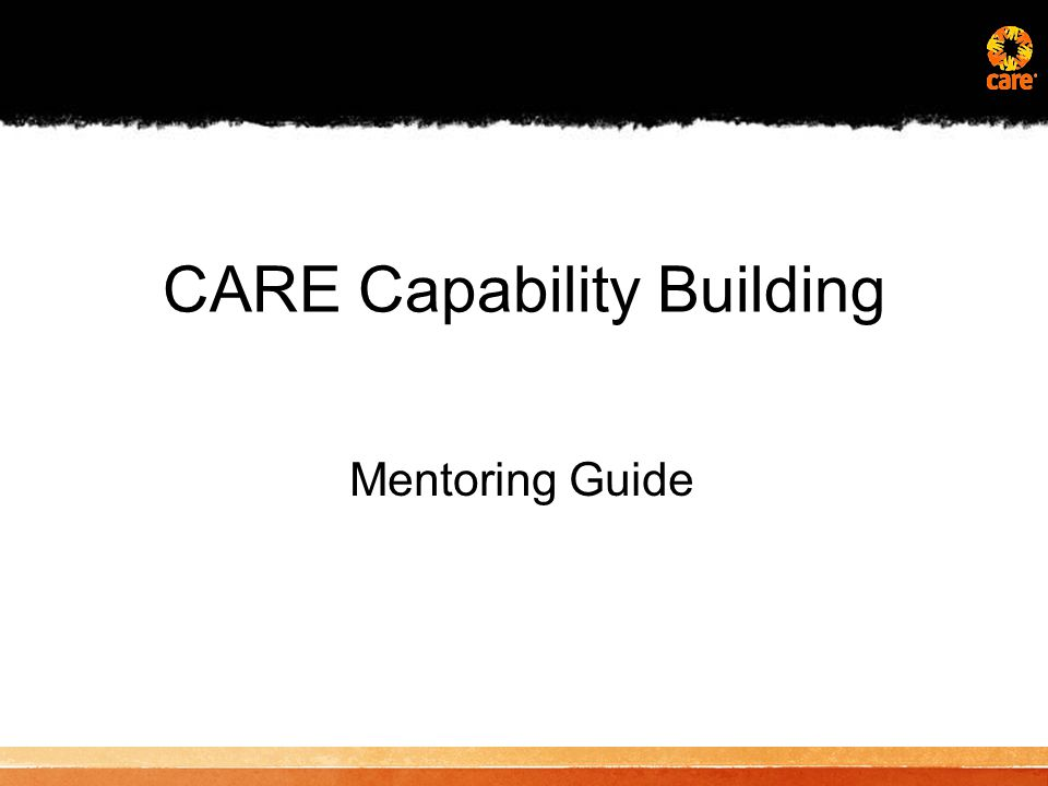 CARE Capability Building Mentoring Guide