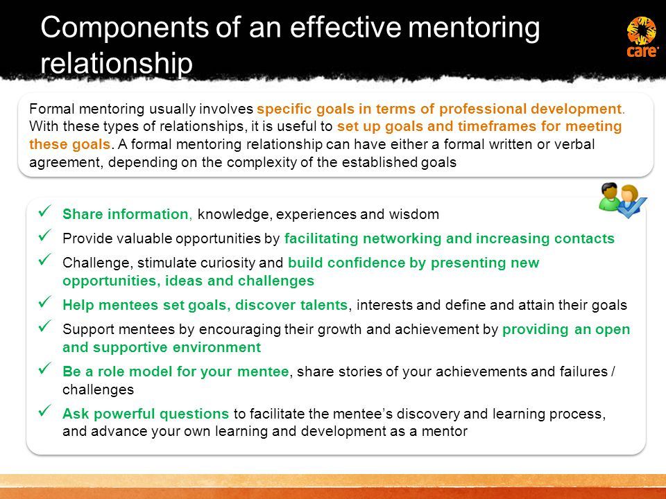 Using the Mentoring Curriculum Mentors and mentees will use the mentoring curriculum to focus learning every month on a new module.