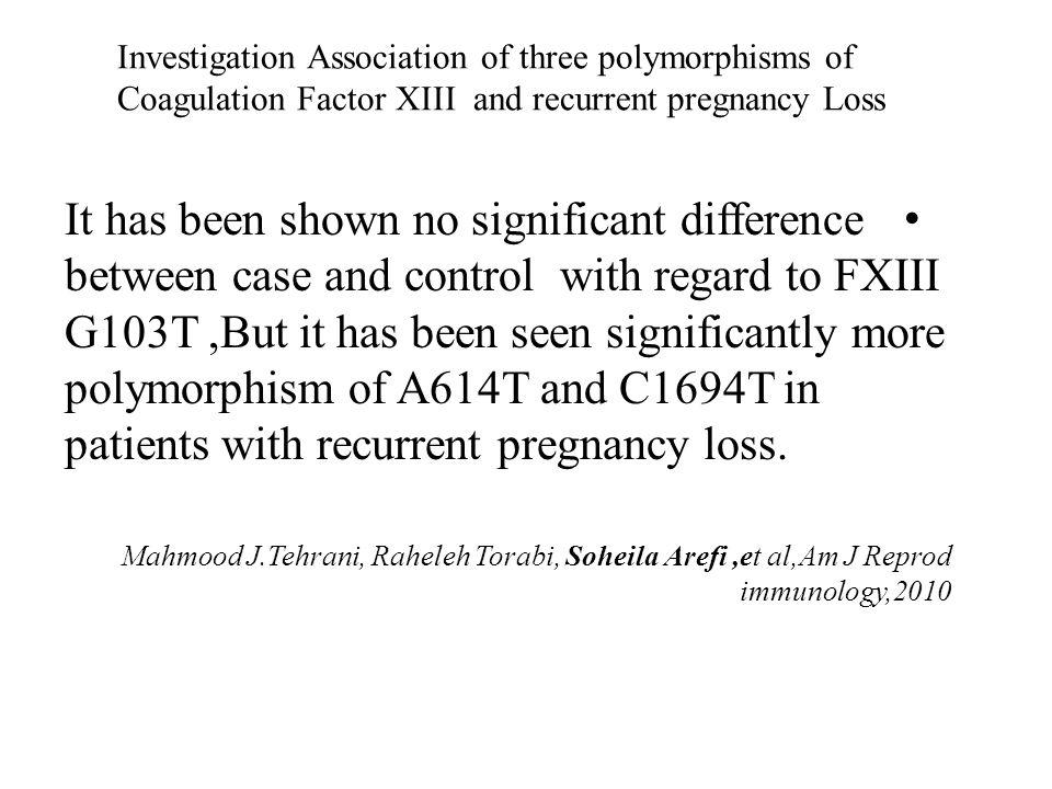 Analysis of Plasminogen activator inhibitor -1,integrin beta 3,beta fibrinogen and MTHFR in Iranian women with recurrent pregnancy loss It has been shown mutation of PAI-1 4 G allele (specially homozygot) and beta fibrinogen increase the risk of RSA.