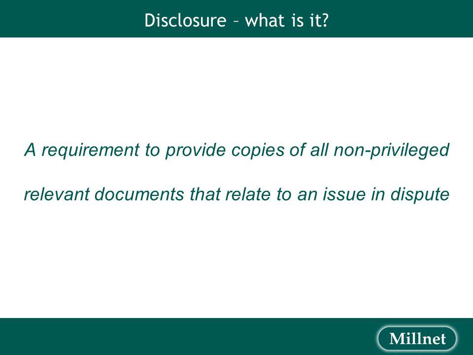 Disclosure Process