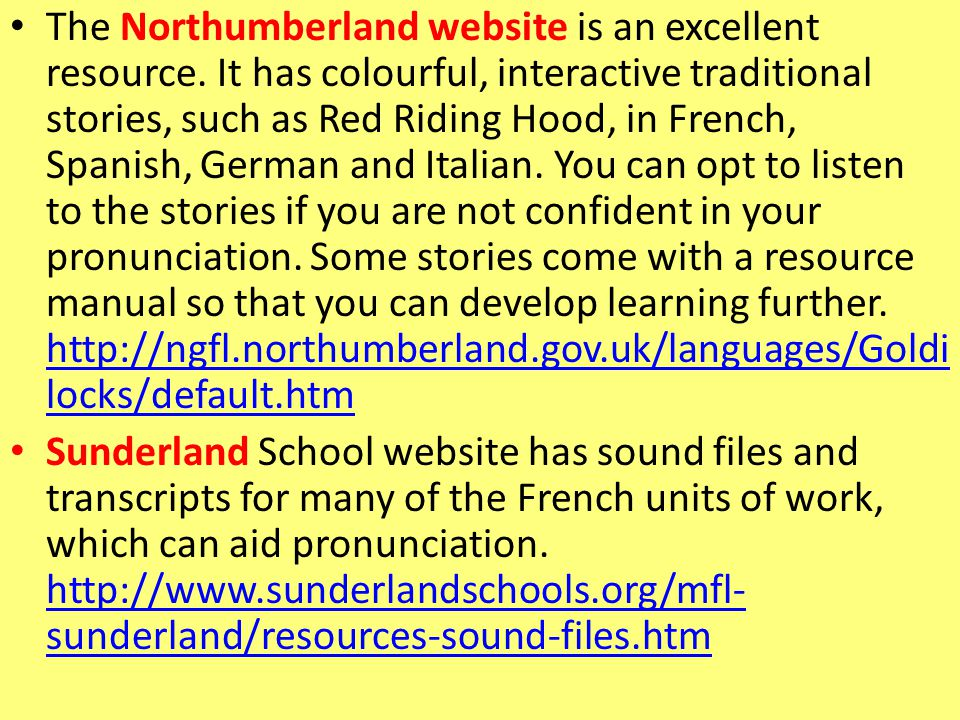 The Northumberland website is an excellent resource.