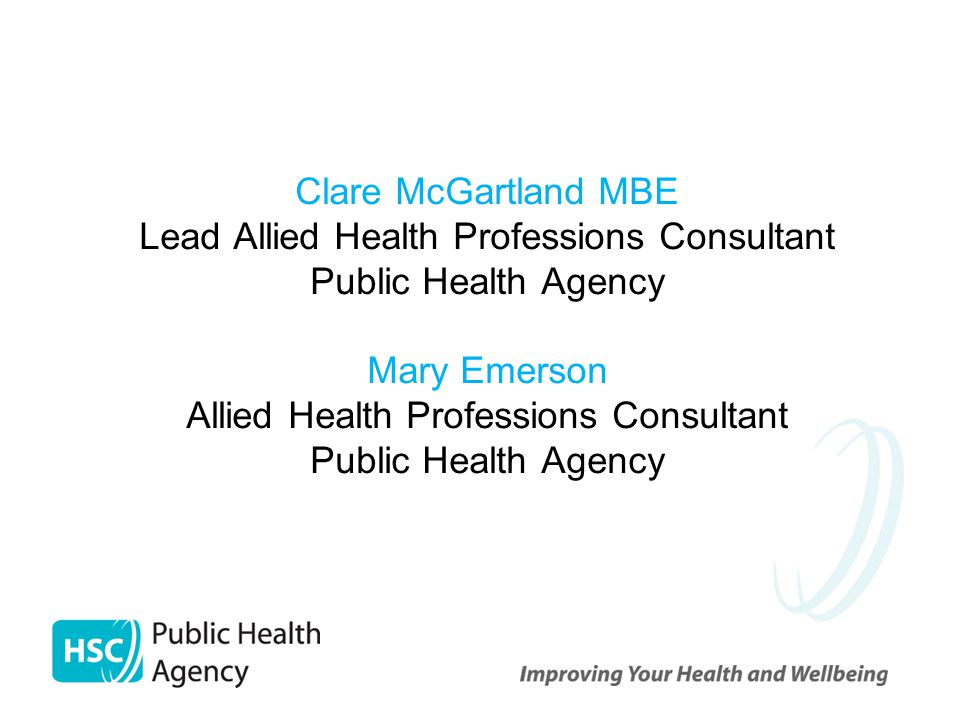 Content Overview of current Northern Ireland Health structures Outline of planned AHP review