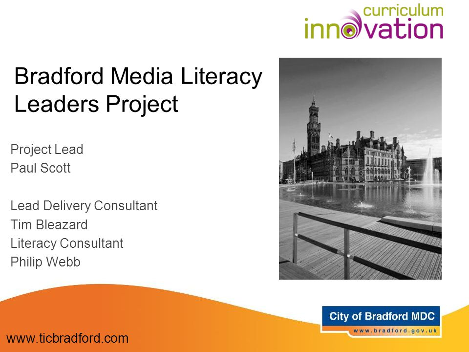 2010: Media Literacy meeting with Sarah Mumford, Paul Scott and Mark Reid Pilot project launched with training supported by Mark.