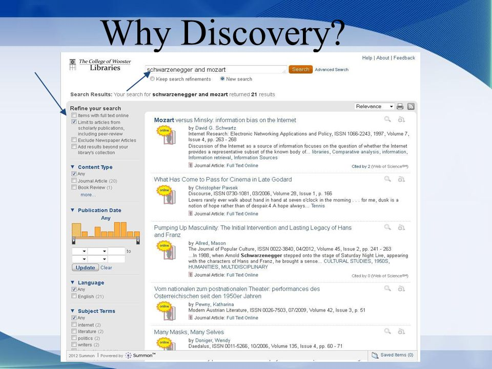 Why Discovery