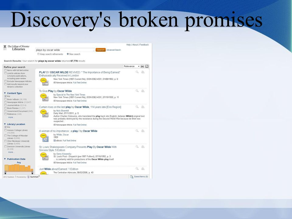 Discovery s broken promises