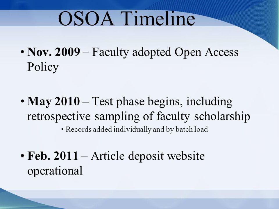 OSOA Timeline Nov.