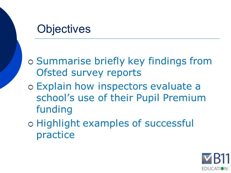Some key findings from September 2012 report