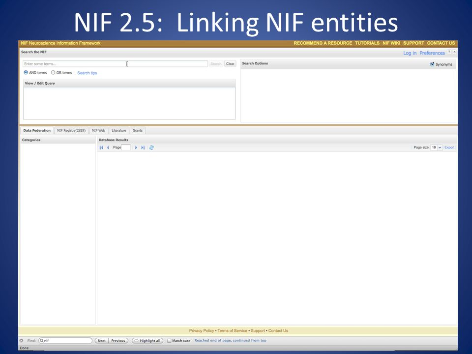 NIF 2.5: Linking NIF entities