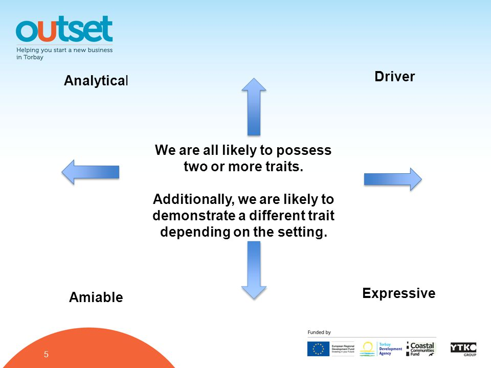 5 Analytical Driver Amiable Expressive We are all likely to possess two or more traits.