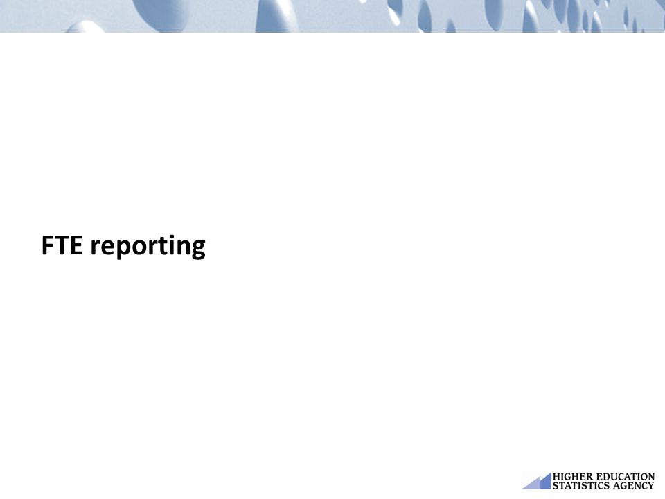 FTE reporting