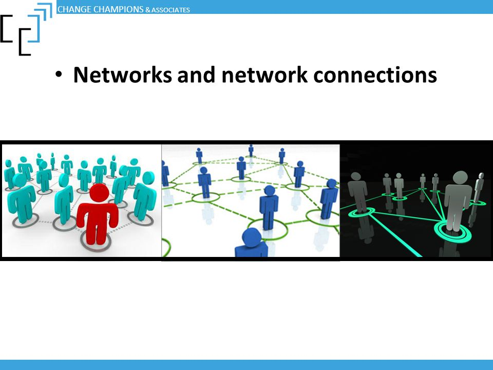 Networks and network connections CHANGE CHAMPIONS & ASSOCIATES