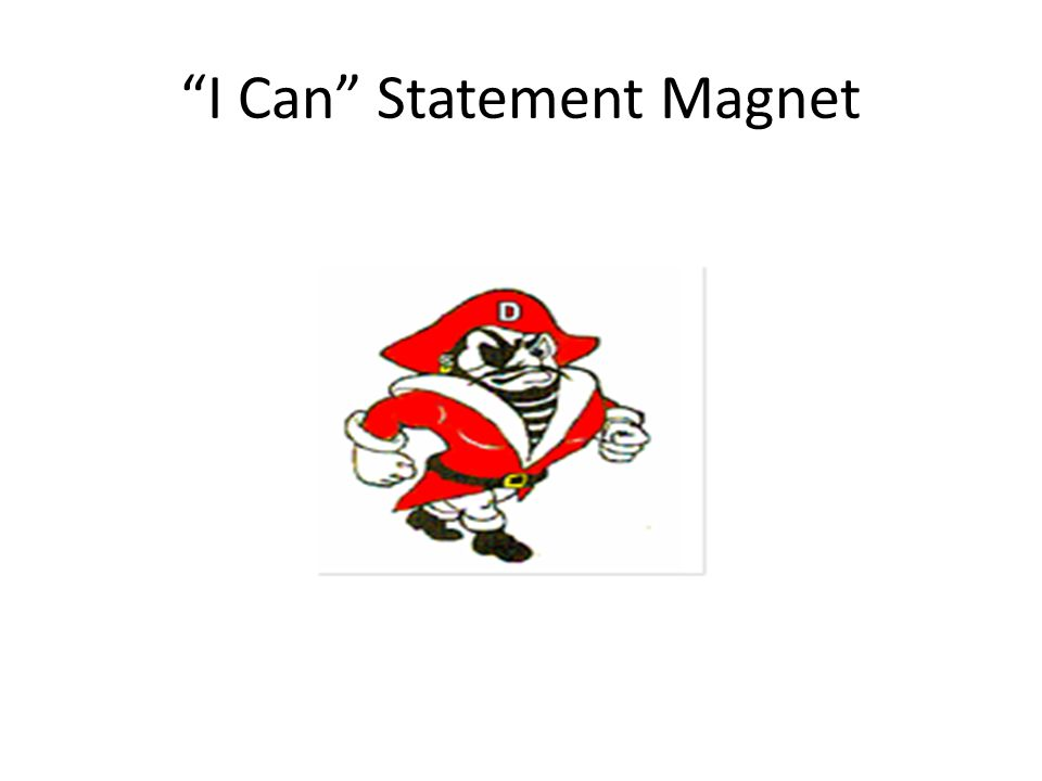 """""""I Can"""" Statement Magnet"""