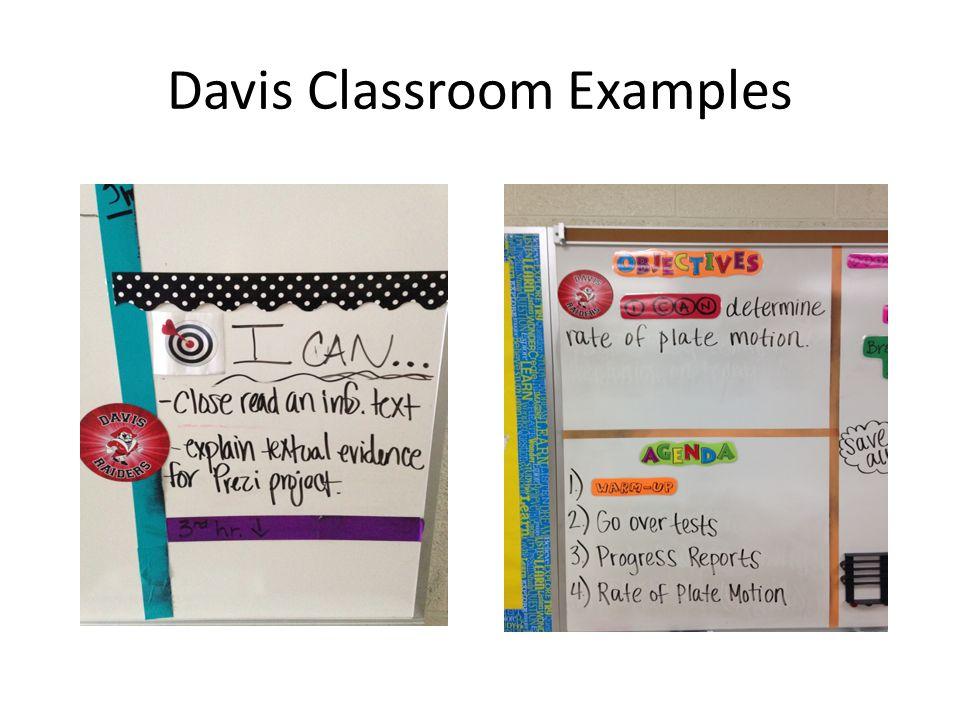 Davis Classroom Examples
