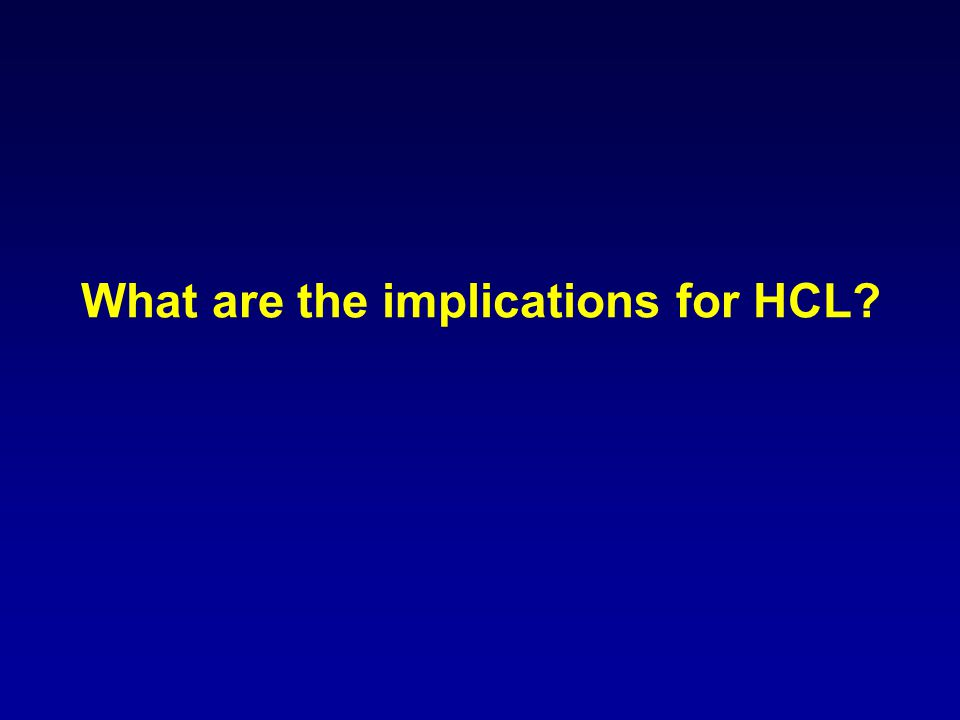 What are the implications for HCL