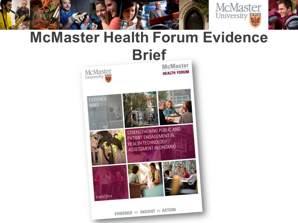 McMaster Health Forum Evidence Brief
